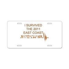 I Survived Earthquake Aluminum License Plate