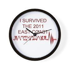 I Survived Earthquake Wall Clock