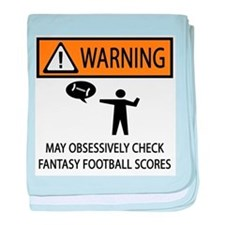 Checks Fantasy Football Scores baby blanket