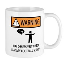 Checks Fantasy Football Scores Mug