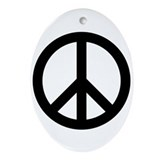 Peace Sign Ornament (Oval)