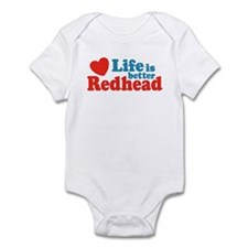 Life is Better Redhead Infant Creeper
