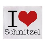 I {heart} Schnitzel Throw Blanket
