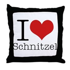 I {heart} Schnitzel Throw Pillow