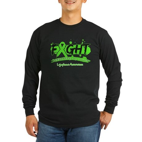 Fight Lymphoma Cause Long Sleeve Dark T-Shirt