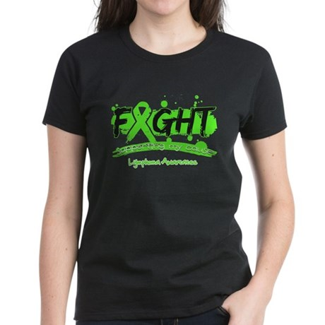 Fight Lymphoma Cause Women's Dark T-Shirt