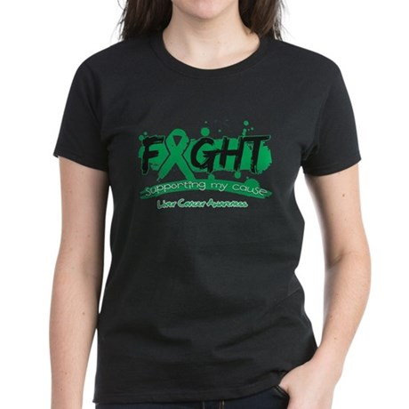 Fight Liver Cancer Cause Women's Dark T-Shirt