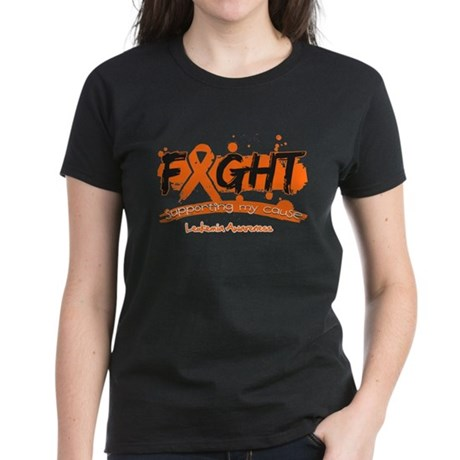 Fight Leukemia Cause Women's Dark T-Shirt