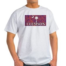 Clemson Tiger Print Flag T-Shirt