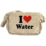I Love Water: Messenger Bag