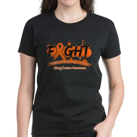 Fight Kidney Cancer Cause Women's Dark T-Shirt