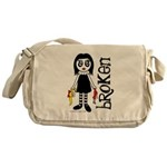 Broken Goth Doll Messenger Bag