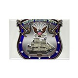 US Navy Shield and Eagle Rectangle Magnet