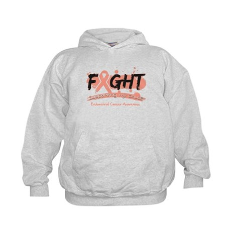 Fight Endometrial Cancer Kids Hoodie