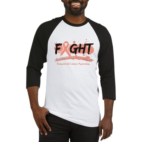 Fight Endometrial Cancer Baseball Jersey
