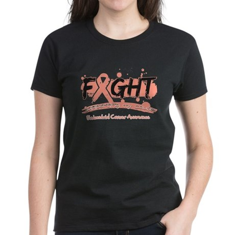 Fight Endometrial Cancer Women's Dark T-Shirt