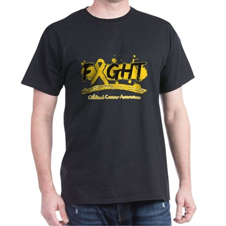 Fight Childhood Cancer Cause Dark T-Shirt