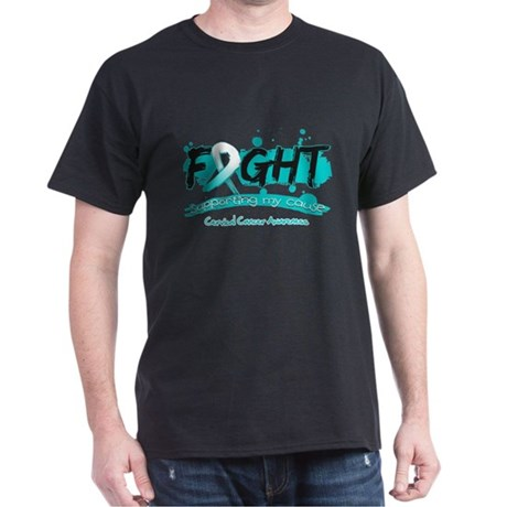 Fight Cervical Cancer Cause Dark T-Shirt