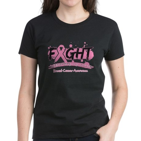 Fight Breast Cancer Cause Women's Dark T-Shirt