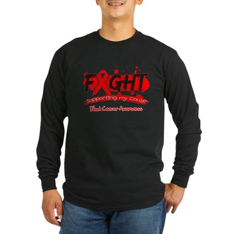 Fight Blood Cancer Cause Long Sleeve Dark T-Shirt