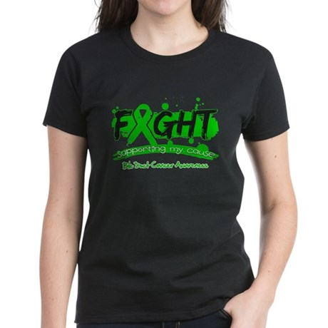 Fight Bile Duct Cancer Cause Women's Dark T-Shirt