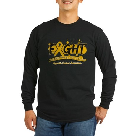 Fight Appendix Cancer Cause Long Sleeve Dark T-Shi