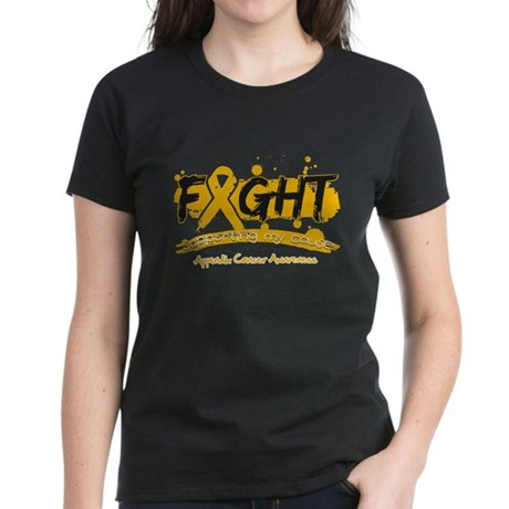 Fight Appendix Cancer Cause Women's Dark T-Shirt
