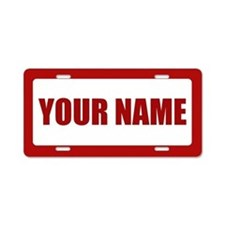 Custom Name Aluminum License Plate