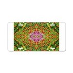 Flower Garden Carpet 4 Aluminum License Plate