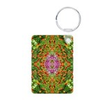 Flower Garden Carpet 4 Aluminum Photo Keychain