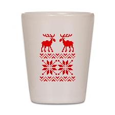 Moose Sweater Christmas Pattern Shot Glass