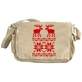 Moose Sweater Christmas Pattern Messenger Bag