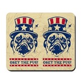 American PUG Revolution! USA Mousepad