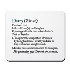 Jane Austen Darcy Definition Mousepad