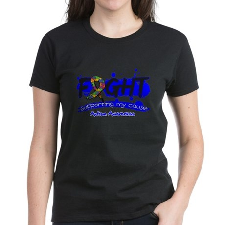 Fight Autism Cause Women's Dark T-Shirt