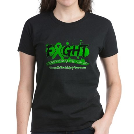 Fight Traumatic Brain Injury Women's Dark T-Shirt