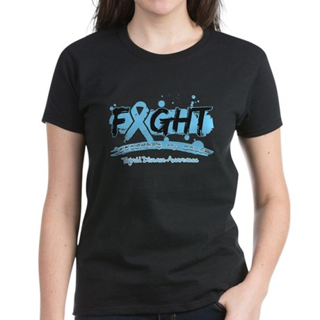 Fight Thyroid Disease Cause Women's Dark T-Shirt