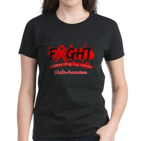 Fight Stroke Disease Cause Women's Dark T-Shirt