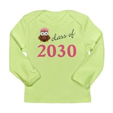 Class Of 2030 Pink Owl Long Sleeve Infant T-Shirt