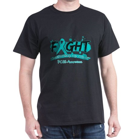 Fight PCOS Awareness Cause Dark T-Shirt