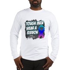 Thyroid Cancer ToughMenWearRibbon Long Sleeve T-Sh