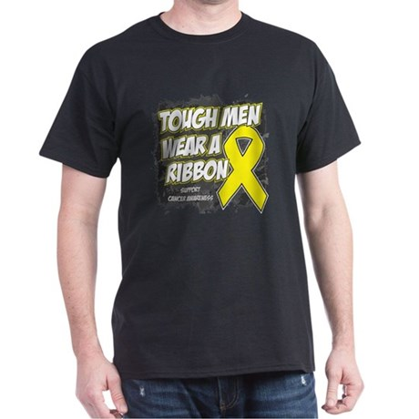 Testicular Cancer ToughMenWearRibbon Dark T-Shirt