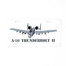 A-10 Thunderbolt II Aluminum License Plate