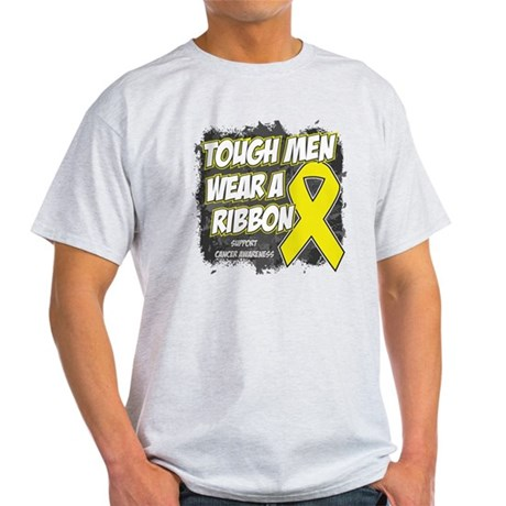 Sarcoma ToughMenWearRibbon Light T-Shirt