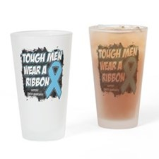 Prostate Cancer ToughMenWearRibbon Drinking Glass