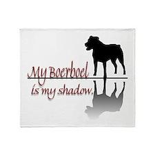 My Boerboel is My Shadow Throw Blanket
