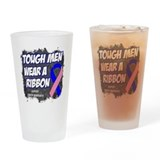 Male Breast Cancer ToughRibbon Drinking Glass