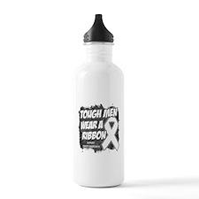 Lung Cancer ToughMenWearRibbon Water Bottle