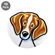 """Red White Beagle Face 3.5"""" Button (10 pack)"""