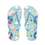 Alice in Wonderland Flip Flops